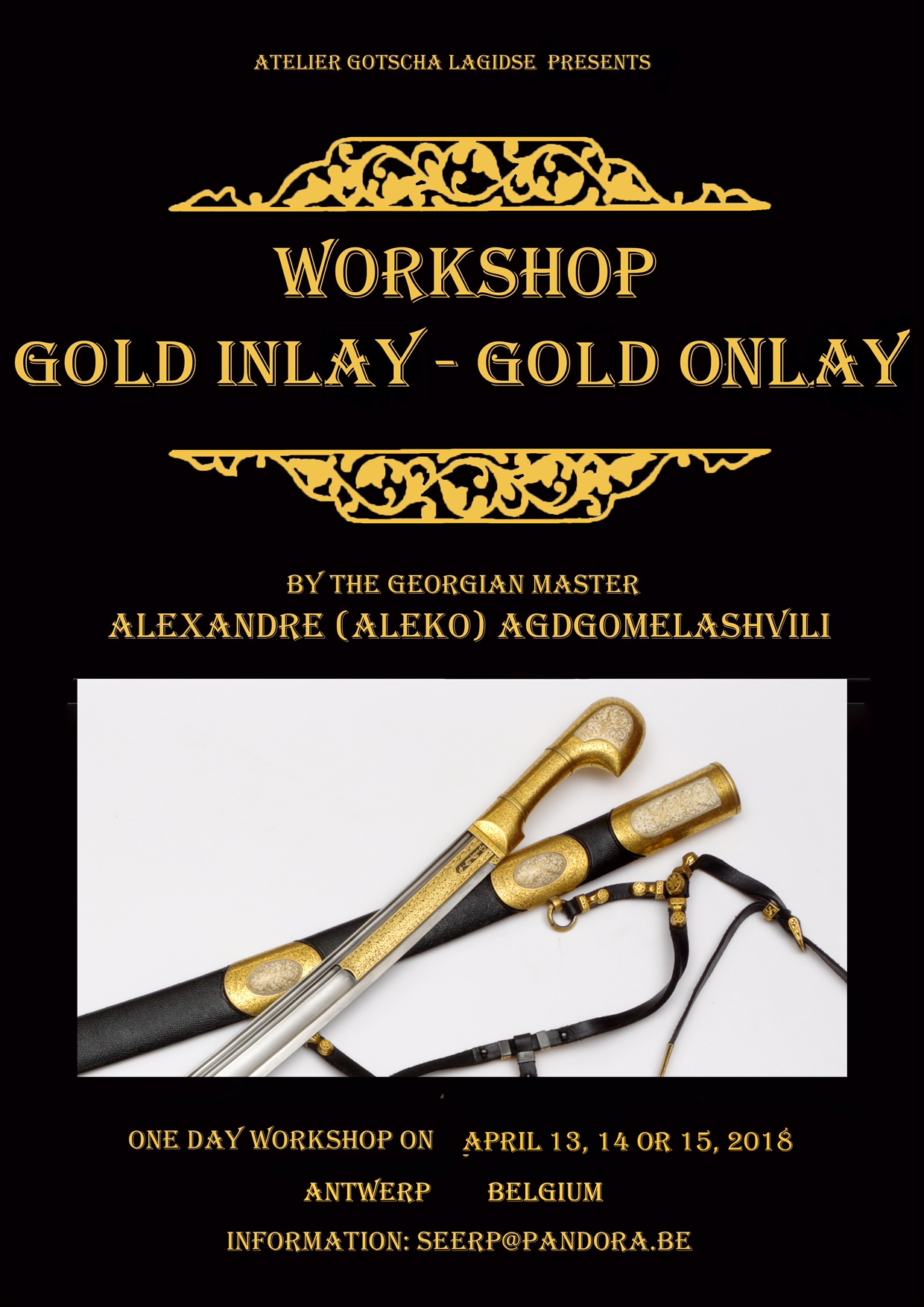 workshop goud affiche
